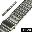 【バンビ】OSCAR(オスカー) メタルブレス シルバー 18mm 金属ベルト 時計ベルト