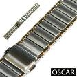【バンビ】OSCAR(オスカー) メタルブレス コンビ 18mm 金属ベルト 時計ベルト