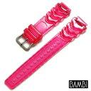 【バンビ】ソフトウレタン ピンク 時計ベルト