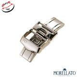 【モレラート】DEPLOJANTE/2 両開きDバックル シルバー 時計ベルトにオススメ 時計ベルト