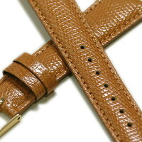 【ミモザ】リザードCMキャメル時計ベルト