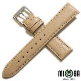 【ミモザ】型押し PRA ベージュ レディース 時計ベルト