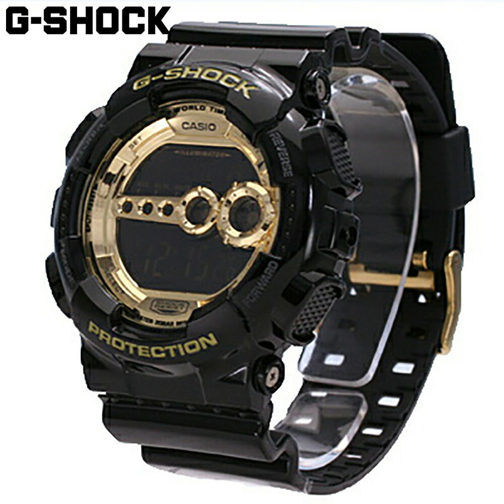 腕時計, メンズ腕時計 CASIO G-SHOCK Black GoldGD-100GB-1 Crazy Colors