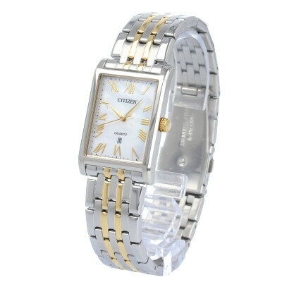 CITIZEN / シチズン BH3004-59D 腕時計 メンズ ステンレス シルバー ゴールド コンビ スクエア クオーツ 【あす楽対応_東海】