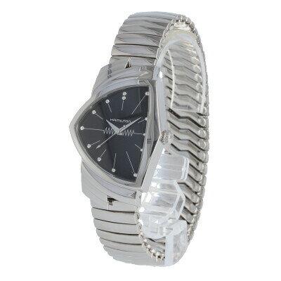 HAMILTON / ハミルトン Ventura ベンチュラ H24411232 腕時計 メンズ ステンレス シルバー ブラック クオーツ 蛇腹 【あす楽対応_東海】