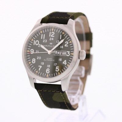 HAMILTON / ハミルトン H70535061 Khaki Field Day Date カーキ フィールド デイデイト 腕時計 自動巻き メンズ カモフラージュ レザーベルト 【あす楽対応_東海】