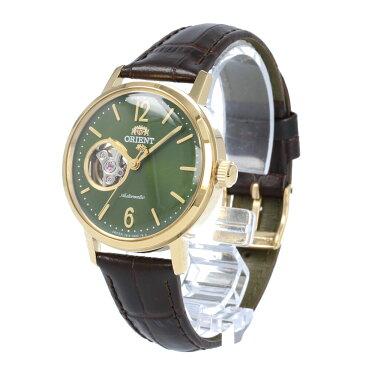 【全商品ポイント10倍!楽天スーパーセール】ORIENT / オリエント RN-AG0020E CLASSIC クラシック 腕時計 メンズ 自動巻き レザー ブラック ゴールド グリーン セミスケルトン シースルーバック 【あす楽対応_東海】