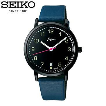 SEIKO セイコー / fusion フュージョン ALBA アルバ AFSJ401 腕時計 メンズ レディース ユニセックス レザーベルト ブラック 【あす楽対応_東海】