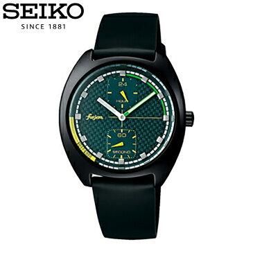 SEIKO セイコー / fusion フュージョン ALBA アルバ AFSK403 腕時計 メンズ レディース ユニセックス スモールセコンド レザーベルト ブラック グリーン 【あす楽対応_東海】