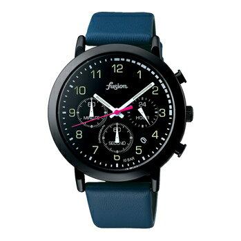 SEIKO セイコー / fusion フュージョン ALBA アルバ AFST401 腕時計 メンズ レディース ユニセックス クロノグラフ レザーベルト ブラック 【あす楽対応_東海】