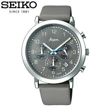 SEIKO セイコー / fusion フュージョン ALBA アルバ AFST402 腕時計 メンズ レディース ユニセックス クロノグラフ レザーベルト グレー 【あす楽対応_東海】