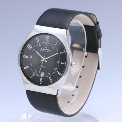 SKAGEN/スカーゲン233XXLSLB/メンズ腕時計 leather /ME...