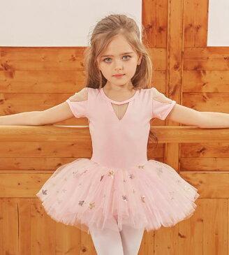 バレエ ワンピース 女の子 レオタード バレエ 演出 体操 発表会 ダンス衣装 キッズ ジュニア ダンスウェア レッセン着 ダンスウェア 児童 表演服 子供 100-160cm 練習 中袖