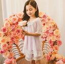 110-160/子供女の子/ルームウェア 上下セットTシャツパンツ ネック オフショルダー 寝巻きネグリジェ 姫宮廷ロングスカート 膝丈 パジャマレース ナイトウェア 大きサイズ長袖