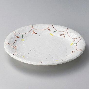 粉引小花90パスタ皿 28cm 和食器 めん皿・パスタ皿・カレー皿 日本製 美濃焼 業務用 和風 27-304-117-mi