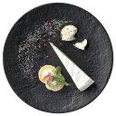メテオ 27cm ディナー 黒 洋食器 丸型プレート 25cm以上 日本製 美濃焼 黒い皿 業務用 プレート 皿 お皿 大きいお皿 丸皿 ワンプレート 大皿料理 パスタ皿 オードブル皿 ピザ皿 ピザプレート 大皿 丸皿 フラットプレート 27-533-157-ta