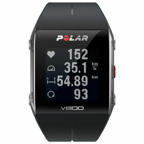 【長期保証付】ポラール GPS搭載スポーツウォッチ V800 ブラック 心拍センサーなし 腕時計タイプ 90047433:特価COM