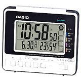 CASIO DQL-250J-7JF 電波目覚まし時計 DQL250J7JFポータブル 熱中症対策 アウトドア 外出 気温 湿度 散歩 日焼け 太陽