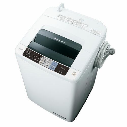 【設置】日立 NW-80A-W(ピュアホワイト) 白い約束 全自動洗濯機 上開き 洗濯8kg:特価COM