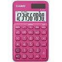 特価COMで買える「CASIO SL-300C-RD(ビビッドピンク カラフル電卓 10桁」の画像です。価格は660円になります。