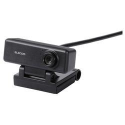 エレコム UCAM-C310FBBK(ブラック) 100万画素WEBカメラ マイク内蔵