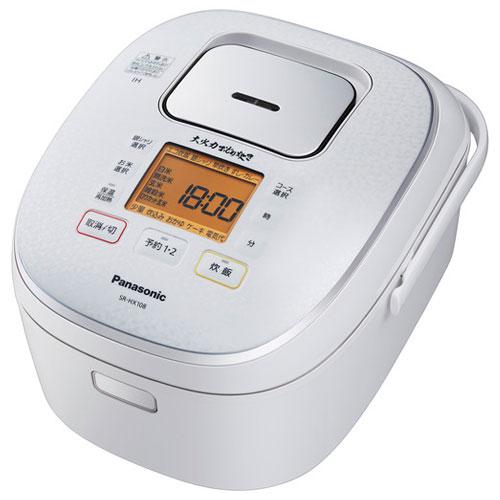 パナソニック SR-HX108-W(スノーホワイト) 大火力おどり炊き IHジャー炊飯器 5.5合