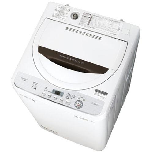 【長期保証付】シャープ ES-GE4C-T(ブラウン) 全自動洗濯機 上開き 洗濯4.5kg