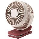 コイズミ KMF-0608/P(ピンク) USB充電式クリップ扇風機 羽径約6cm小型タイプ 1
