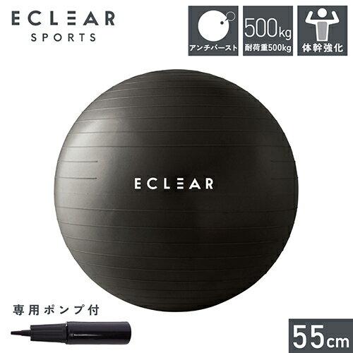 エレコム HCF-BB55BK(ブラック) バランスボール 55cm