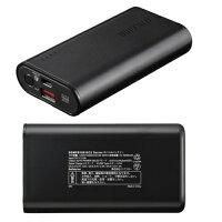 バッファロー BSMPB10010C2BK(ブラック) モバイルバッテリー 10050mAh
