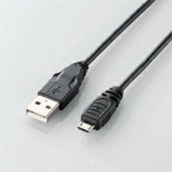 エレコム U2C-AMB20BK(ブラック) USB2.0ケーブル A-MicroB 2m