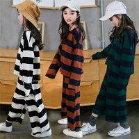 キッズ2点セット女の子長袖Tシャツ+オーバーオールレジャー韓国子供服子供服オーバーオールセット女の子2点セットキッズ上下セットアップ子供上下セットパンツセットファッション感