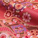 京都西陣織・金襴 生地 華雅(桜桃色) 10cm単位 切り売り 布地 はぎれ 和柄 生地 よさこい きんらん 金らん きゃりーぱみゅぱみゅ