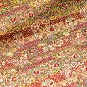 京都西陣織・金襴 生地 ゆめ花文 10cm単位 切り売り 布地 はぎれ 和柄 生地 よさこい きんらん 金らん きゃりーぱみゅぱみゅ