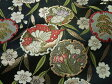 京西陣・金襴 生地 黒地花雪輪 (花柄 和柄生地 和柄 和風 よさこい 衣装 布 手芸 インテリア 祭り)05P01Oct16