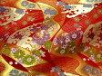 京西陣・金襴 生地 道長流しに荒磯(赤) (花柄 和柄生地 和柄 和風 よさこい 衣装 布 手芸 インテリア)05P01Oct16