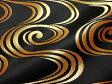 京西陣・金襴 生地 観世水(黒・金)(和柄生地 和柄 和風 よさこい 衣装 布 手芸 インテリア)05P01Oct16