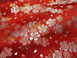 京西陣・金襴 生地 雅桜 赤【手芸同好会-tore】 (花柄 和布 和柄生地 和柄 和風 よさこい 衣装 布 手芸 インテリア 金襴布 金らん 祭り)05P01Oct16
