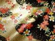 京・金彩友禅 花に流水(黒) (着物生地 和 和柄生地 和柄 和風 はぎれ 手芸 布 インテリア)05P01Oct16