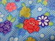 鹿の子地に花(水色)
