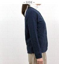アルモニ/harmonie/6590145/トップス/カーディガン/もこもこ接結/綿100%/コットン/レディース/冬/春/秋/クルーネック/長袖/日本製/シンプル/ベーシック/フリー/9号/11号/ワンマイルウエア/ギフト/実用的/ハルモニ/肌にやさしい/洗濯可