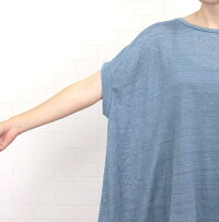 アルモニharmonie62155675トップスTシャツプルオーバー日本製リネン100%麻リラックス半袖レディース夏清涼感涼しいドレープハルモニーカジュアル可愛い大人ゆったりシンプル洗濯可フリー9号11号チャコールブルー