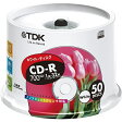 TDK データ用CD-R 700MB 32倍速対応 ホワイトワイドプリンタブル 50枚スピンドル CD-R80EWX50PS