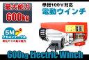 100V電動ウインチ(ホイスト)最大能力600kg