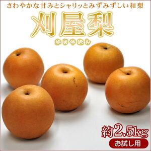 山形県産 刈屋梨 約2,5kg(6〜10玉) なし ナシ【RCP】