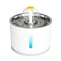 ペットウォーターファウンテン ペットフィーダー 自動給水器 循環式 水やり 犬 猫 水飲み ペットフード 皿付き 健康 水 給水器