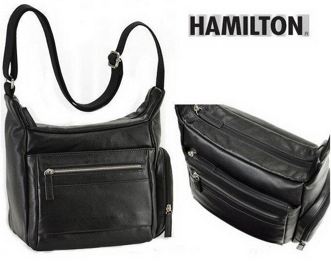 HAMILTON/ハミルトン 本革 牛革 レザー メンズバッグ メンズ ショルダーバッグ 24cm 【平野鞄】16393