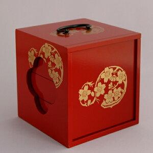 【送料無料】遊山箱(ゆさん)朱色【徳島文化/風習】懐かしい手提げ弁当箱 10P01Nov14