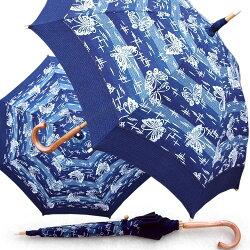 藍染め日傘蝶