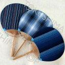 阿波しじら織り 団扇(うちわ) 3種類の生地からお選び下さい!夏のエコな涼に最適♪